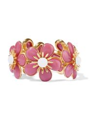 Ben-Amun - Pink Gold-plated Resin Bracelet - Lyst