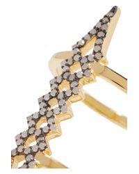 Noir Jewelry - Metallic Herron Gold-plated Opal Ring - Lyst