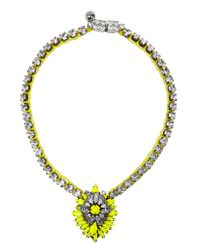 Shourouk | Yellow Cora Bamako Silver-plated Swarovski Crystal Necklace | Lyst