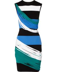Ohne Titel | Blue Striped Piqué Mini Dress | Lyst