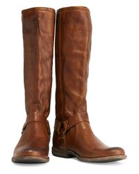Frye - Brown Phillip Harness Tall Leather Boots - Lyst