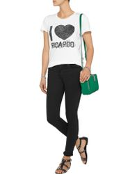 Zoe Karssen - White Ricardo Cotton And Modal-blend Jersey T-shirt - Lyst