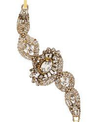 Erickson Beamon - Metallic Young And Innocent Gold-plated Swarovski Crystal Bracelet - Lyst