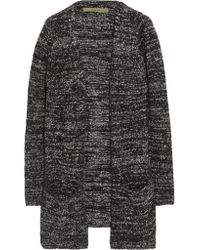 Enza Costa | Gray Knitted Cardigan | Lyst