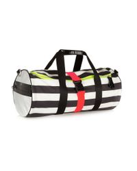 Monreal London - Black Striped Neon-trimmed Leather Holdall - Lyst