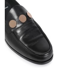 Pierre Hardy - Black Embellished Leather Loafers - Lyst