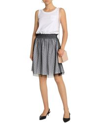 RED Valentino - Woman Tiered Cotton-jersey Dress White Size L - Lyst