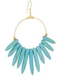 Kenneth Jay Lane - Blue Gold-plated Resin Earrings - Lyst