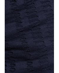 T By Alexander Wang - Blue Open-knit Stretch Cotton-blend Jersey Skirt - Lyst