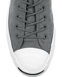 Converse - Gray Jack Purcell Canvas Sneakers - Lyst