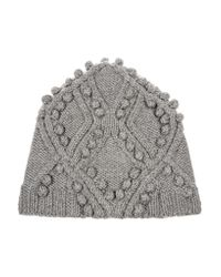 3.1 Phillip Lim - Gray Cable-knit Wool Beanie - Lyst