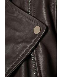 W118 by Walter Baker - Gray Allison Leather Biker Jacket - Lyst