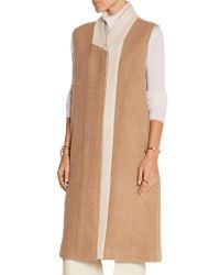 TOME - Natural Two-tone Wool-blend Felt Gilet - Lyst
