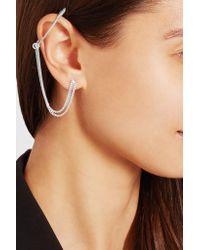Maison Margiela - Metallic Paperclip Silver-tone Earring - Lyst