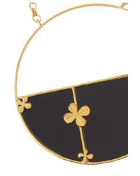 Aurelie Bidermann - Black Bianca Gold-plated Onyx Necklace - Lyst