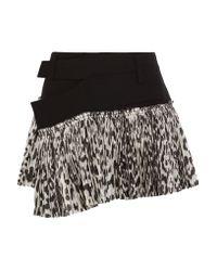 Haider Ackermann   Multicolor Stretch-wool And Leopard-print Silk-blend Wrap Mini Skirt   Lyst