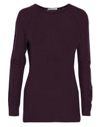 Autumn Cashmere   Purple Cashmere Sweater   Lyst