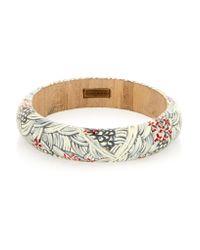Isabel Marant - Gray Painted Wood Bracelet - Lyst