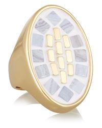 Lulu Frost - Metallic Mosaic Gold-tone Ring - Lyst