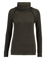 Bailey 44 | Chain-trimmed Knitted Turtleneck Sweater Army Green Size M | Lyst