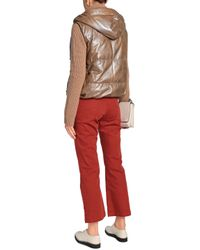 Brunello Cucinelli - Woman High-rise Flared Jeans Brick - Lyst