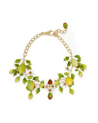 Dolce & Gabbana - Metallic Gold-plated, Swarovski Crystal And Enamel Necklace - Lyst