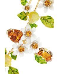 Dolce & Gabbana - Metallic Gold-plated, Swarovski Crystal And Enamel Necklace - Lyst