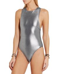 Prism | Gray Samar Metallic Swimsuit | Lyst