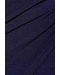By Malene Birger - Blue Wafinni Ruched Stretch-crepe Midi Dress - Lyst