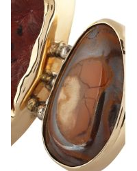 Melissa Joy Manning - Metallic 14-karat Gold And Sterling Silver Stalactite And Opal Ring - Lyst