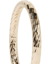 Kenneth Jay Lane | Metallic Polished Gold-tone Hoop Earrings | Lyst