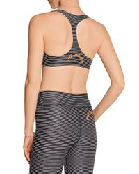 The Upside - Black Lauren Striped Stretch-jersey Sports Bra - Lyst