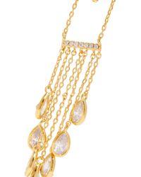 Noir Jewelry | Metallic Ziggy Gold-tone Crystal Earrings | Lyst