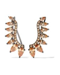 Noir Jewelry - Multicolor Ashton Gunmetal-tone Crystal Earrings - Lyst