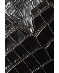 Vince - Black Croc-effect Leather Shoulder Bag - Lyst