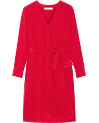 Vanessa Bruno | Red Silk Crepe De Chine Dress | Lyst