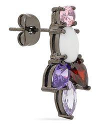 Iosselliani - Multicolor Gunmetal-tone Crystal And Stone Earrings - Lyst