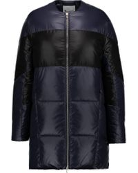 T By Alexander Wang | Blue Quilted Shell Down Coat | Lyst