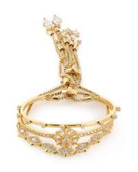 Noir Jewelry - Metallic Set Of Three Gold-tone Crystal Bracelets - Lyst