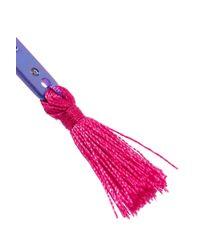 Ileana Makri - Purple Summer Titan Tasseled Titanium Crystal Earring - Lyst