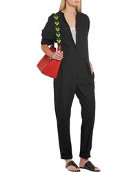 Isabel Marant - Black Nuk Cotton-poplin Jumpsuit - Lyst