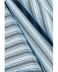 Vince - Blue Striped Silk Shirt - Lyst