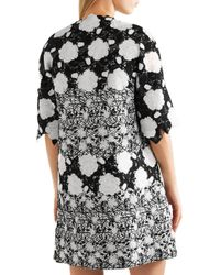 Giambattista Valli - Black Embroidered Tweed And Guipure Lace Jacket - Lyst