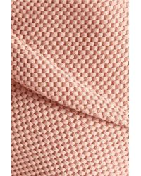 Roland Mouret | Pink Pickwick Woven Cotton-blend Dress | Lyst