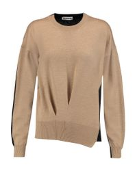 Jil Sander - Natural Two-tone Wool Sweater - Lyst