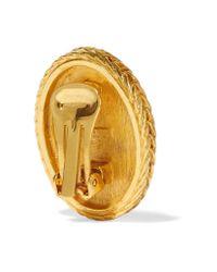 Ben-Amun | Blue Gold-tone Stone Earrings | Lyst
