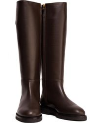 Marni - Brown Leather Knee Boots - Lyst