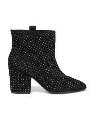 Rebecca Minkoff | Black Blake Embellished Suede Ankle Boots | Lyst