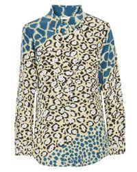 Equipment - Multicolor Printed Silk Shirt - Lyst