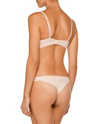 Heidi Klum - Natural Sheer Infinity Lace And Jersey Underwired Contour Bra - Lyst